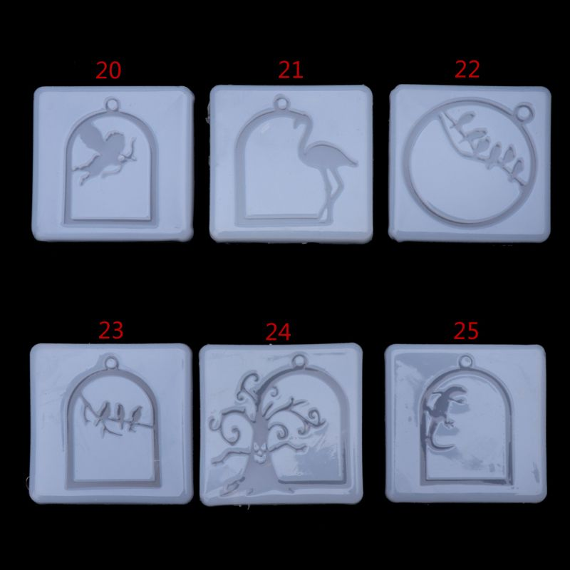 UV Frame Pendant Silicone Mold Flamingo Angel Cubitt Halloween Molds Collection Handmade Tools Jewelry Making Molds Crafts New