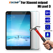 XSKEMP 9H Real Tempered Glass For Xiaomi mipad Mi pad 3 Tablet Screen Protector 9H Hardness LCD Toughened Protective Film Guard