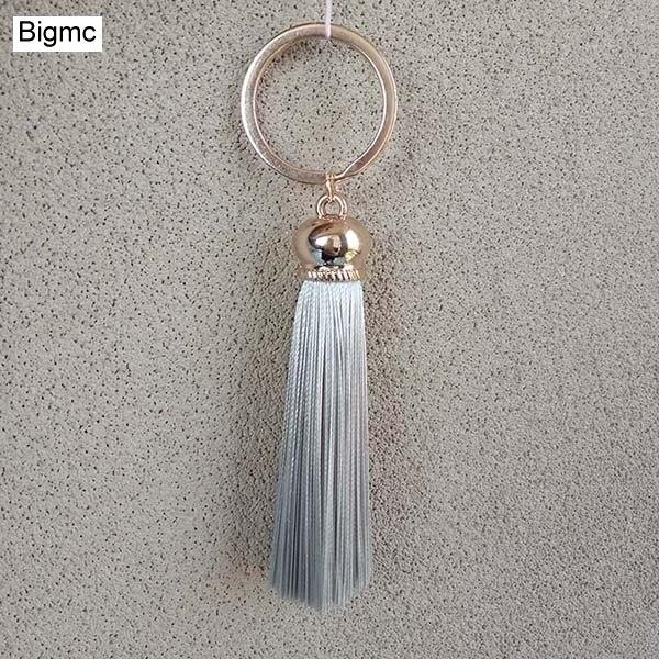 New Tassel Key Chain Women Cute Tassel Key Chain Charm Bag Accessory Silk Tassels Car Key Ring Gift Jewelry 16022