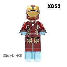 Iron Man Series Single Sale Legoingly Marveled Avengers Super Hero Figures Building Blocks Bricks Set Model Toys For Children(China)