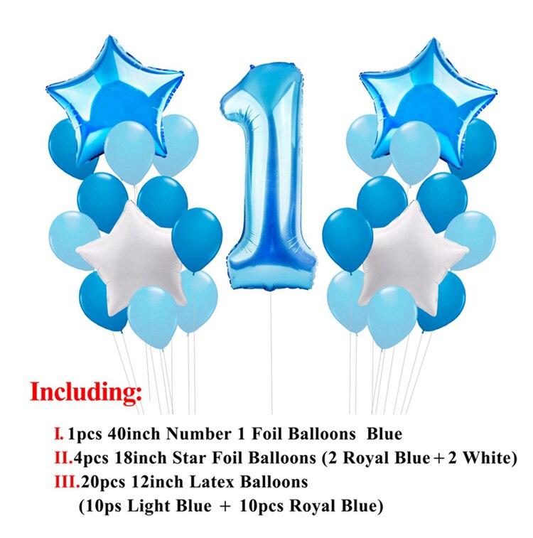 Foil Balloon Party Balloon 40 Pastel Blue Star Shape Balloon