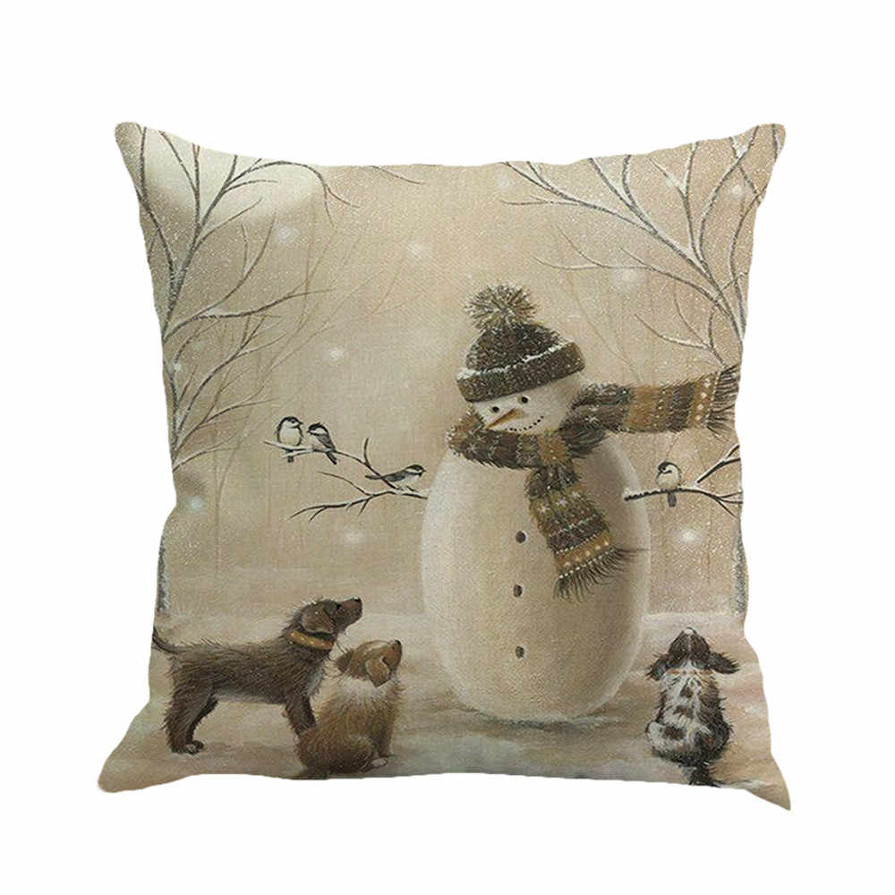 Gajjar Pillow  45*45 Christmas Printing Dyeing Pillow Cover decorative pillows print  Dropshipping