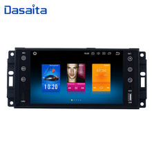 "Dasaita 7"" Android 9.0 Car GPS Radio Player for Jeep Chrysler Dodge with Octa Core 4GB+32GB Auto Stereo Navi Video Multimedia(China)"