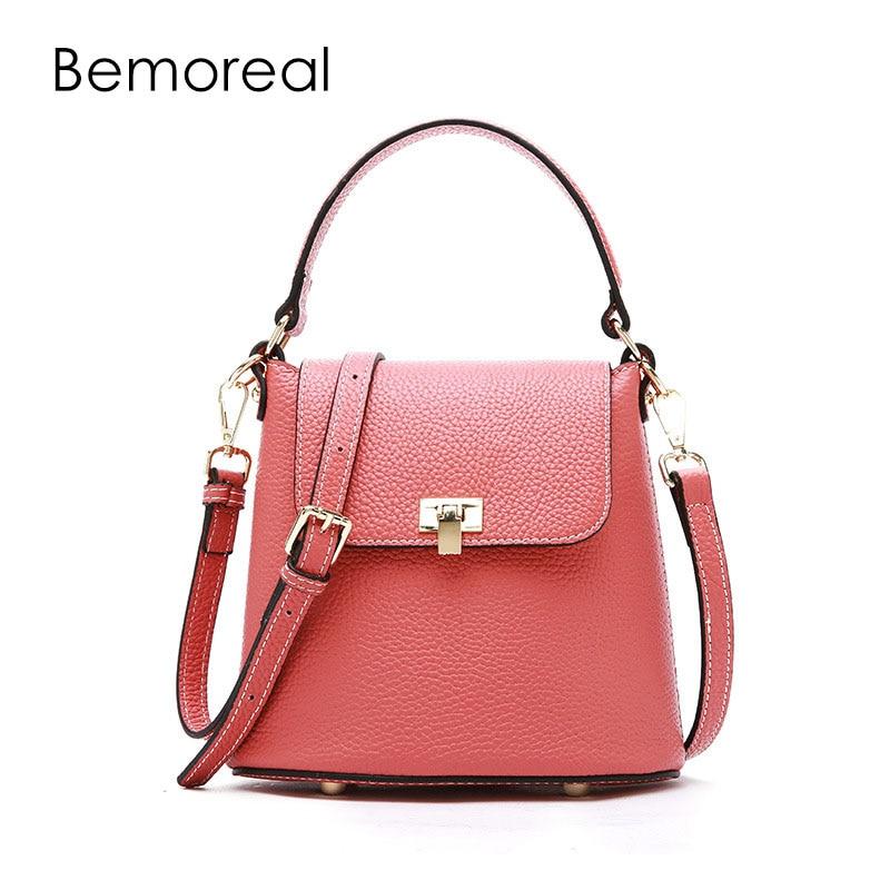 Bemoreal crossbody bags for women Genuine Leather Ladies luxury handbags women bags designer small messenger bag