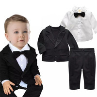3Pcs Suits Children Clothing Baby Clothing Sets Spring Autumn Baby Boys Clothes Coat Long Sleeve T