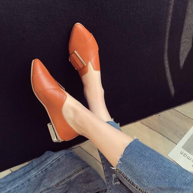 2018 nuova versione Coreana del selvaggio sexy singoli pattini vento Britannico scarpe da donna retro di modo selvaggio delle donne scarpe