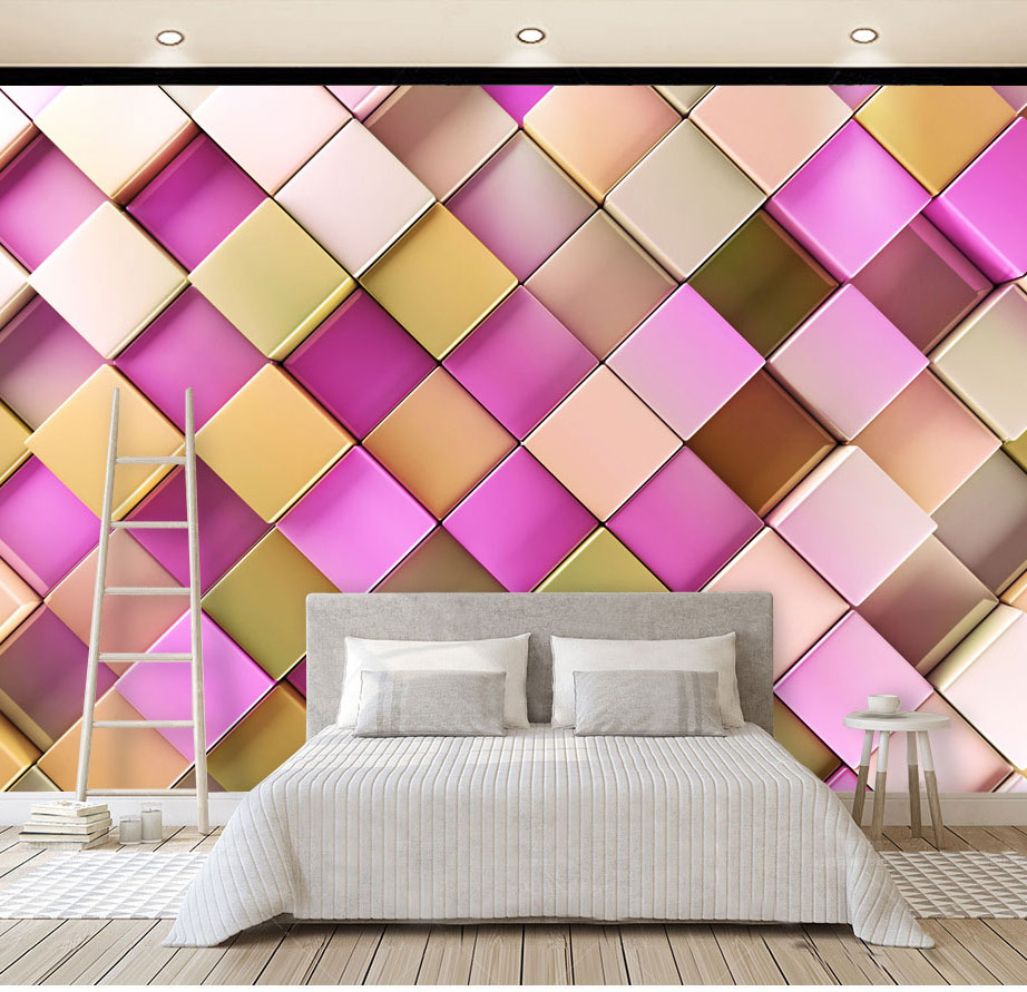 3D Stereoscopic Gold Lattice Wallpaper Murals Grid 3d Wall Photo Mural for Living Room Sofa Background 3d Wall Murals Wall paper custom photo wallpaper 3d wall murals balloon shell seagull wallpapers landscape murals wall paper for living room 3d wall mural