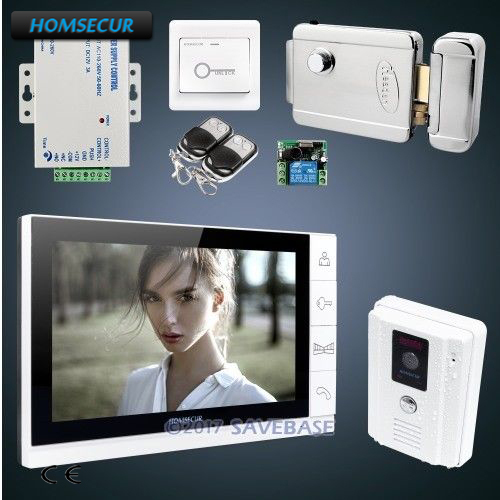 HOMSECUR 9 Hands-free Video&Audio Home Intercom+Outdoor Monitoring for House/Flat
