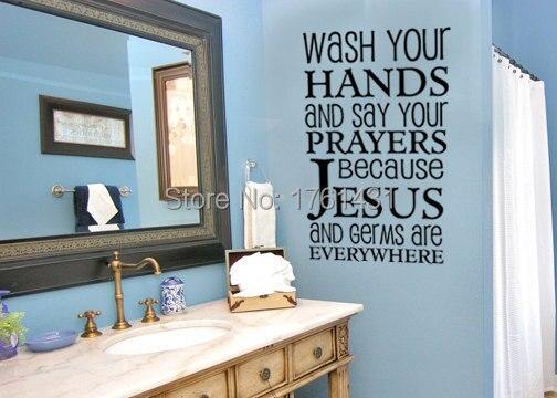 Lavarsi le mani e dire le preghiere parete decalcomanie in vinile
