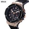MEGIR Chronograph Mens 6 Mãos 24-hours Função Esporte Militar Silicone Relógios de Pulso de Luxo Homem Relógio de Quartzo Relogio masculino