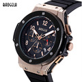 MEGIR Cronógrafo Del Mens 6 Manos Función 24-horas Sport Relojes de Pulsera de Lujo Reloj de Cuarzo Militar de Silicona Hombre Relogio masculino