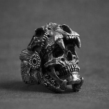 Bague tête de mort Vintage