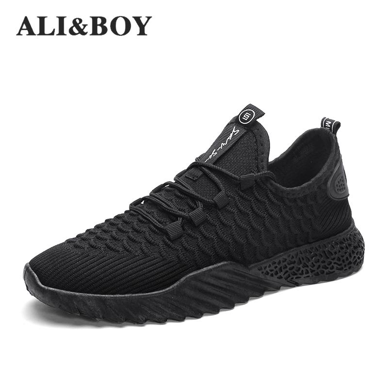 Running Shoes For Men Women Yeezys Air 350 Boost Breathable Couple Sneakers  Male Sock Sport Shoes 98968851e9