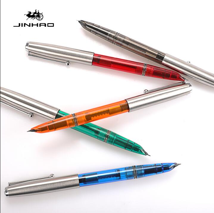 Luxury New Jinhao 51A Retro finance office stationery Fountain Pen Student school office ink pens latest design jinhao dragon and phoenix carving fountain pen stationery luxury metal writing gift art collection ink pens
