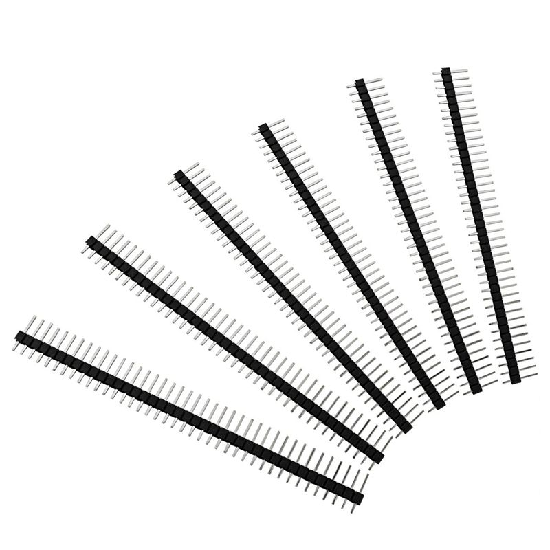 100pcs Male Header Pins Straight Single Row 40 Pin 0 1 Inch 2 54mm