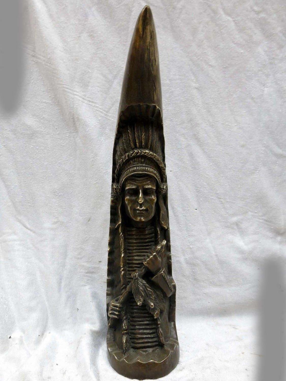 12 Китай латунь медь Резные Красивый арабский шейх Рисунок Скульптура #01