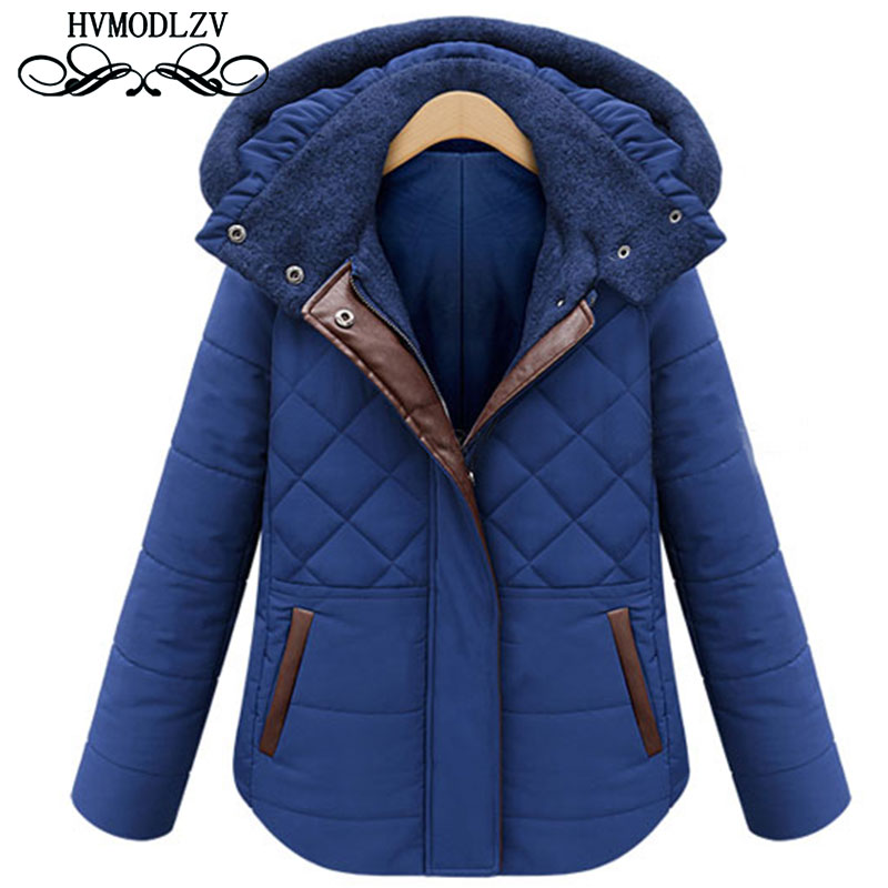 2017 New Thickened With a Hat Cotton Jacket To Keep Warm Wind Women Winter Coats Leisure