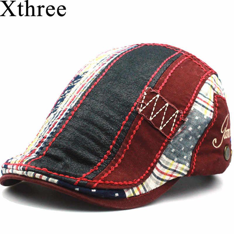 Xthree gorro de boina de moda gorra de algodón para hombres y mujeres  visores para niños bd058ba7302