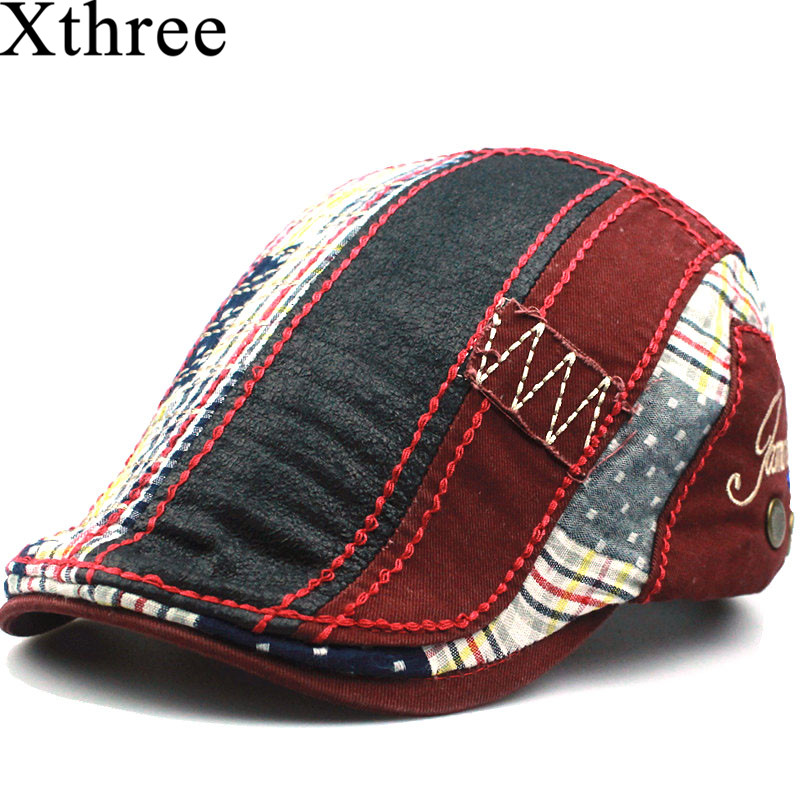 Xthree Fashion Beret hat casquette cap Cotton Hats for Men and Women बच्चों के विज़र्स Sun hat Gorras Planas Flat Caps