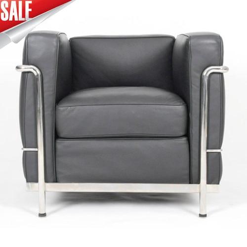 LC2 Le Corbusier armchair(Top Italian Leather)-in Divani da ...