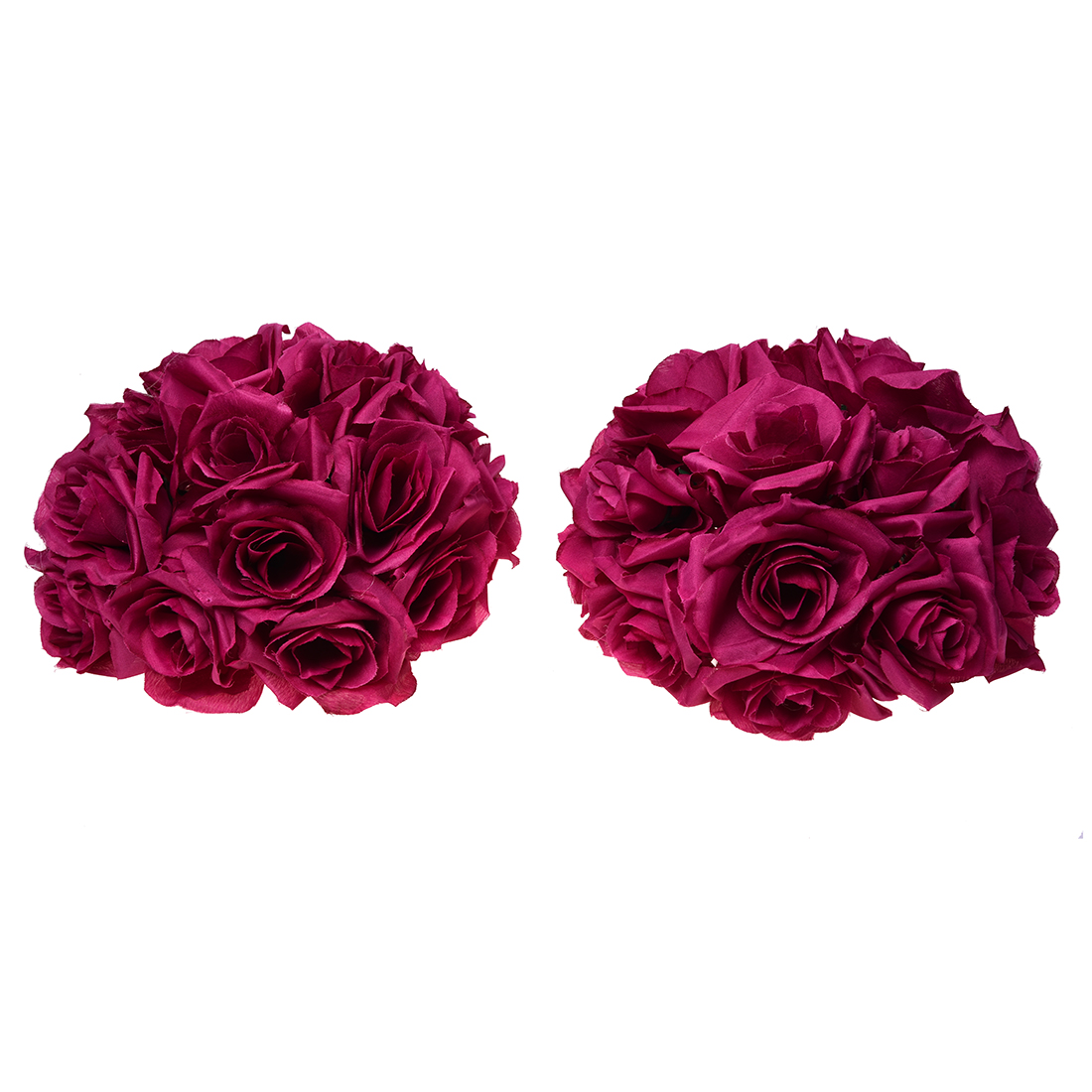 Wedding Decorations Artificial Flowers Rose Wine red Flowers Silk ...