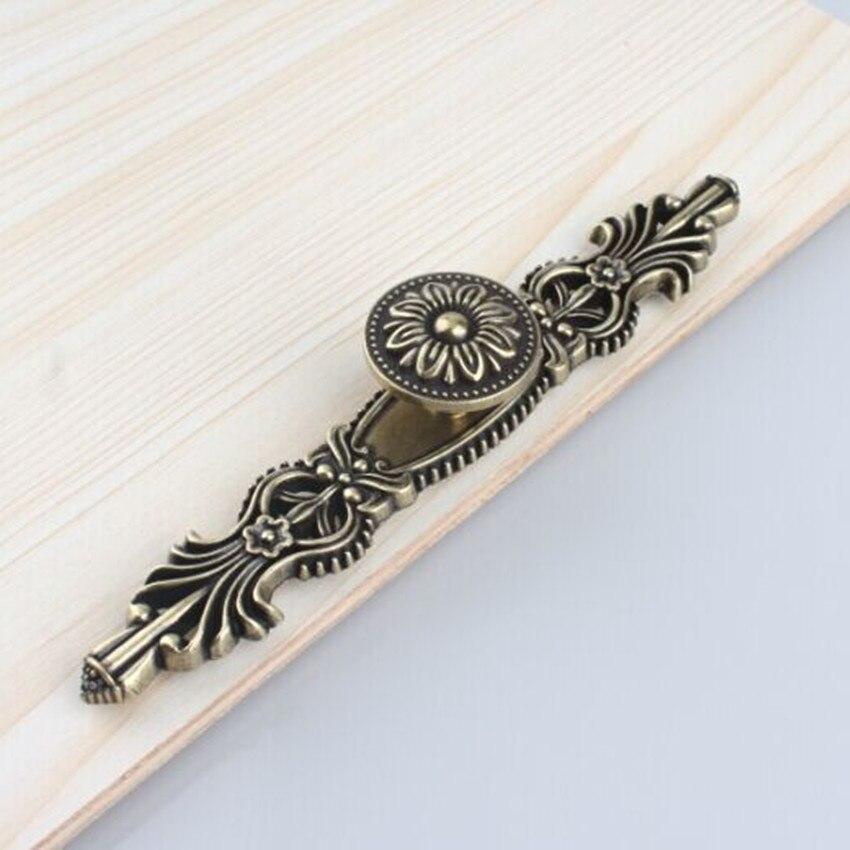 Bouton de commode boutons de tiroir poignées Antique Bronze armoire de cuisine poignée de porte tirer bouton décoratif matériel arrière plaque Pull