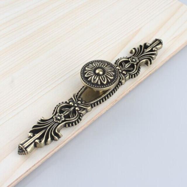Dresser Knob Maçanetas de Gaveta Puxa Alças Antique Bronze Armário de Cozinha Maçaneta Da Porta Pull Knob Hardware Decorativo Placa Traseira Puxar
