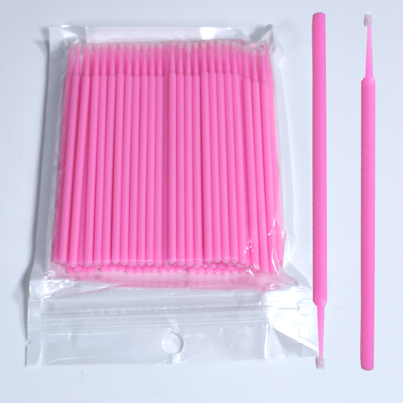 100pcs Disposable Makeup Brushes Cotton Swab Tattoo Small Pointed Tip Cleaning Soft Swab Embroidery Sticks