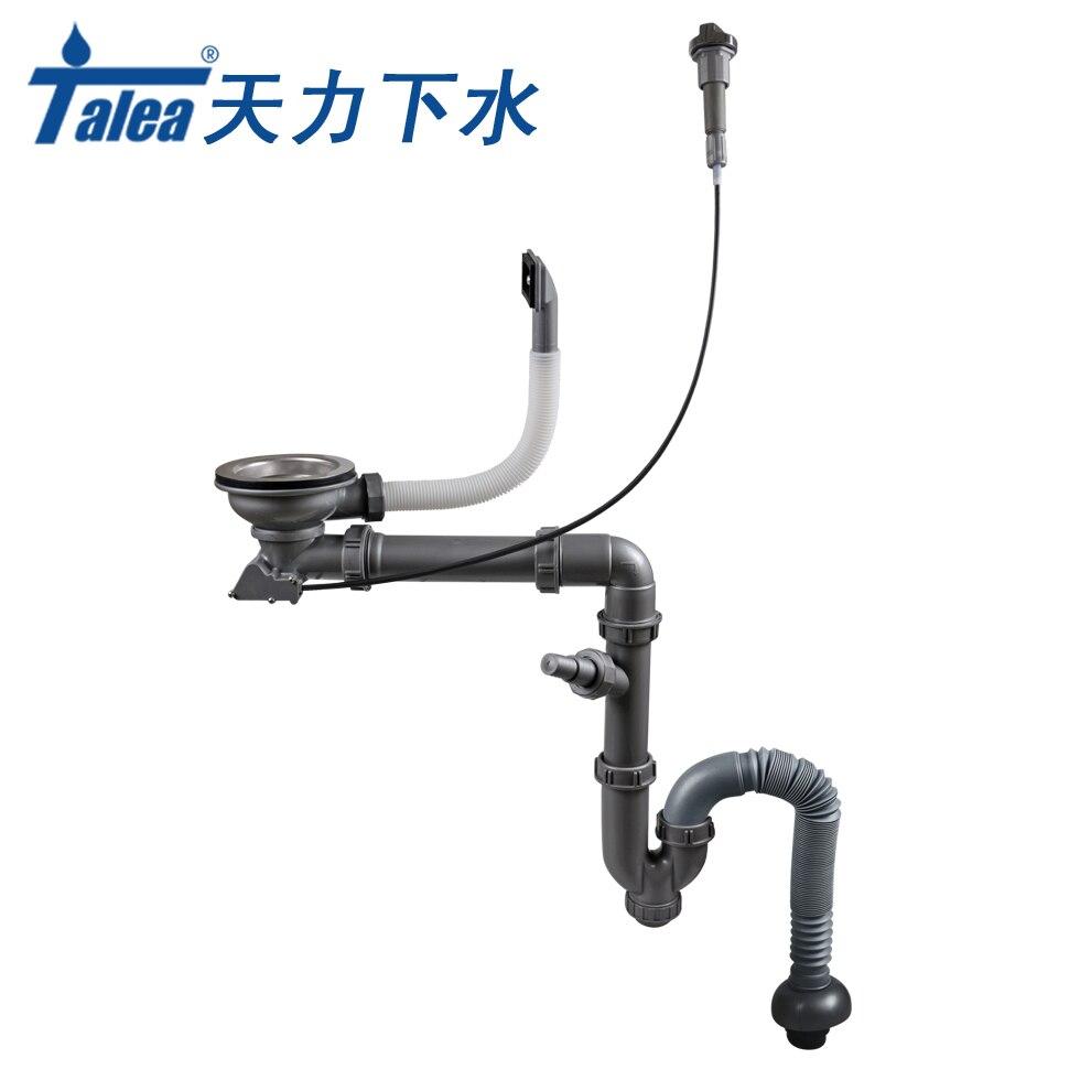 Talea de Control de tipo cuenco fregadero de drenaje kit Cocina sistema de drenaje con desagüe kit fregadero tubo de desagüe fregadero colador manguera