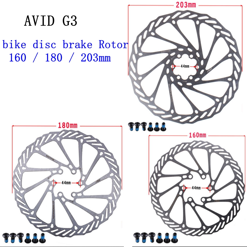 Us 4 6 1 Pcs Avid G3 Mtb Bike Disc Brake Rotor Size 160 180 203mm For Hydraulic Disc Brake Rotor In Bicycle Brake From Sports Entertainment On