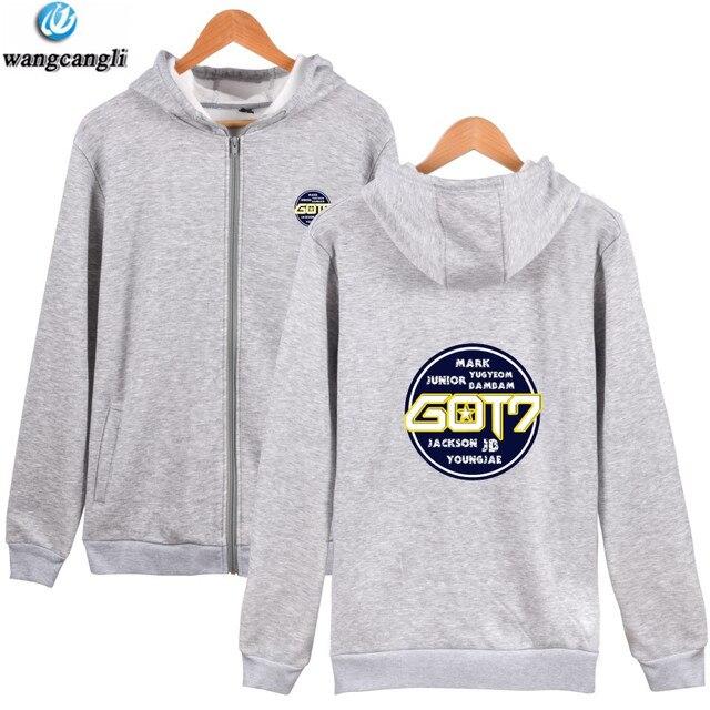 aca14df8539 Kpop GOT7 Member Autumn Winter Zipper Hoodie Men Women GOT 7 Harajuku  Hoodies Sweatshirt Women Fashion Plus Size Jacket Coat