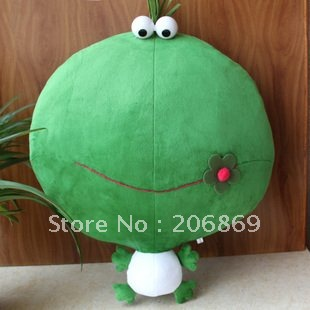 Candice guo plush toy stuffed doll Mung bean frog LEON big head pillow cushion cartoon cute baby birthday gift christmas present candice guo cute plush toy anime corgi pet shiba dog head hamburger cushion hand warm pillow birthday christmas gift 1pc