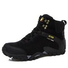 Новинка 2017 года осень-зима уличная спортивная обувь Для мужчин Термальность Mountain Сапоги и ботинки для девочек с высоким берцем Походы и кемпинг Спортивная обувь Мех теплые скалолазание