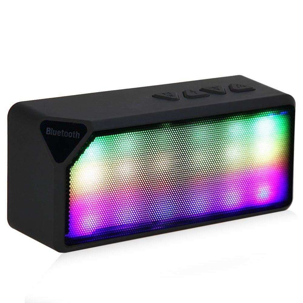 X3S Box Portable Mini LED Lights Wireless Stereo Bluetooth ...