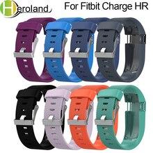 Купить с кэшбэком Metal Buckle Wrist BandsFor Fitbit Charge HR Replacement Strap  Silicone smart Watch band for Fitbit Charge HR Activity Tracker