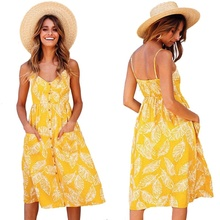 Womens Dress 2019 Summer Casual Dresses Sexy Bohemian Printed Backless Sling Mini