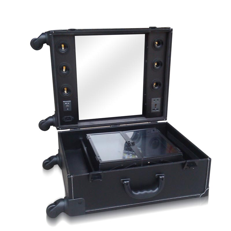 Trolley Makeup Box With Lights Professional Beauty Case Station