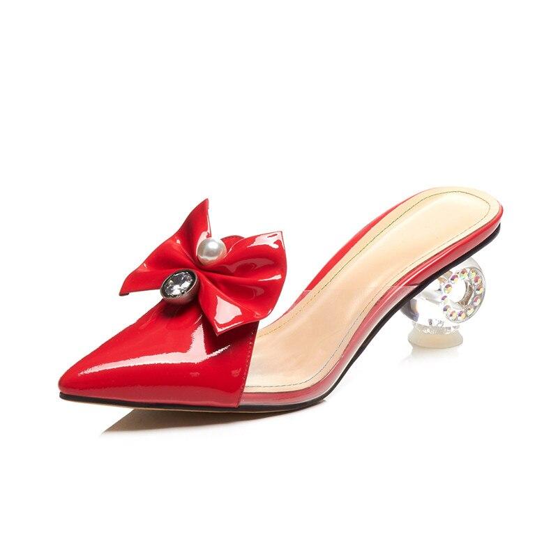 MORAZORA 2019 nuevos zapatos de mujer zapatos de cuero genuino puntiagudos zapatos de tacón alto únicos zapatos de mujer para fiesta de boda-in Zapatos de tacón de mujer from zapatos    2