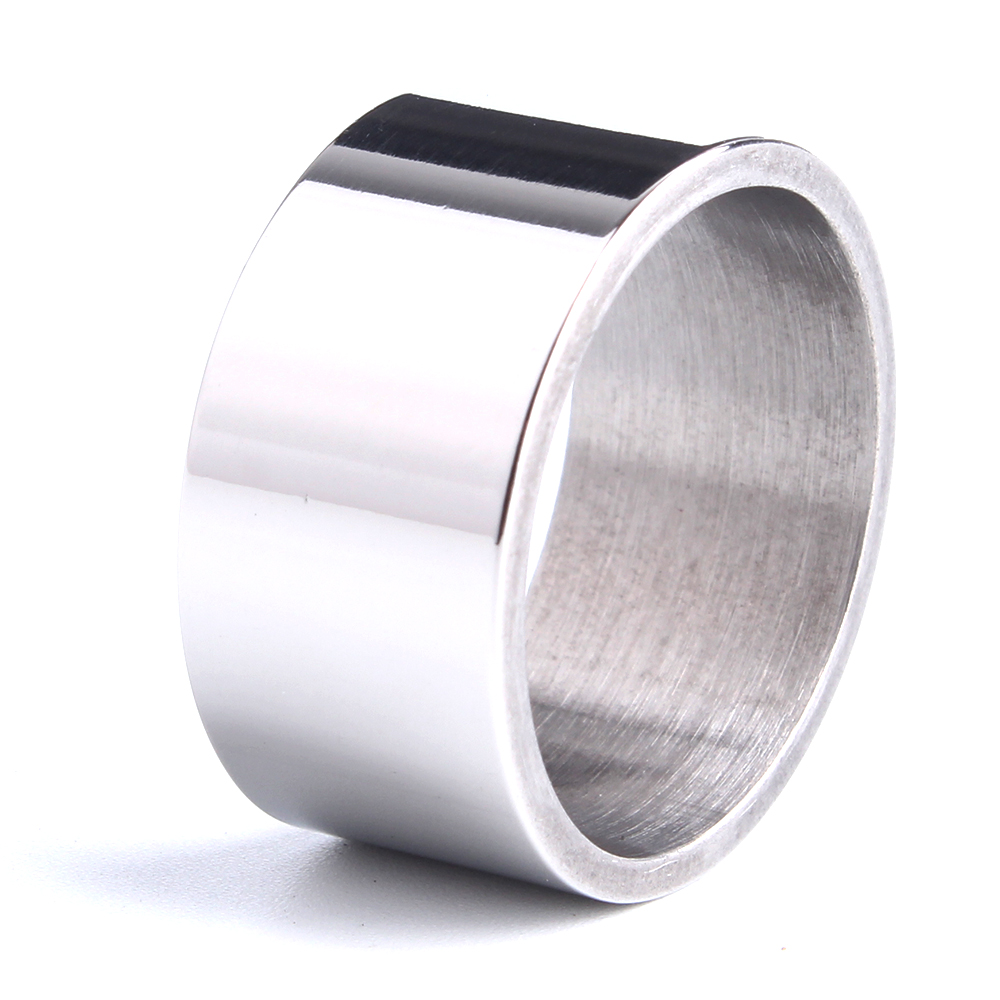Light version wide wedding rings for men 316L Stainless ...