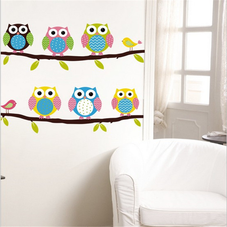 Aliexpress.com : Buy Cute Owl Cartoon Wall Stickers For Children Bedroom  Background Decorative Wall Stickers Home Decor From Reliable Cartoon Wall  Stickers ... Part 80