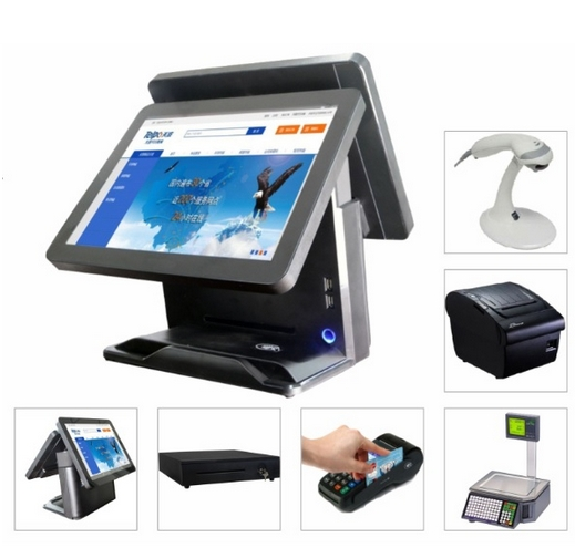 WiFi/3G/NFC/RFID/Printer/IC-Card All In One Touchscreen Electronic Consumer POS Terminal Diy Computer Desktops