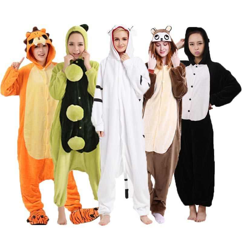 97f990738 Onesie New Cartoon Cosplay Pyjamas Halloween Animal Pajamas Kigurumi For Adults  Unisex Warm Homewear Flannel Jumpsuits
