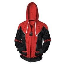 100cm-140cm Children Hoodie Venom Spiderman Marvel Movie 3D Printed Hoodies Streetwear Hip Hop Warm Hooded Men for Kids