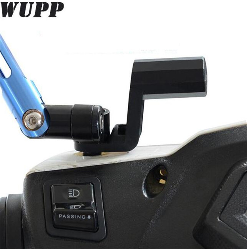 Wupp Motorcycle Electric Car Beach Car Rearview Mirror Extension Mount Bracket Holder For Cars ATVs With Rearview Mirror