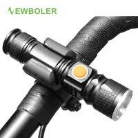 NEWBOLER 2017 Bicycle Light USB Rechargeable 3000 Lumen T6 LED Bike Front Light Zoom Waterproof Built