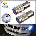 2 unids de Alta Potencia 11 W HID Blanco BAX9S H6W CRE'E-SMD LED Bombillas de Repuesto De Luz de Estacionamiento Del Coche, copia de seguridad del Freno de Marcha Atrás Bombilla