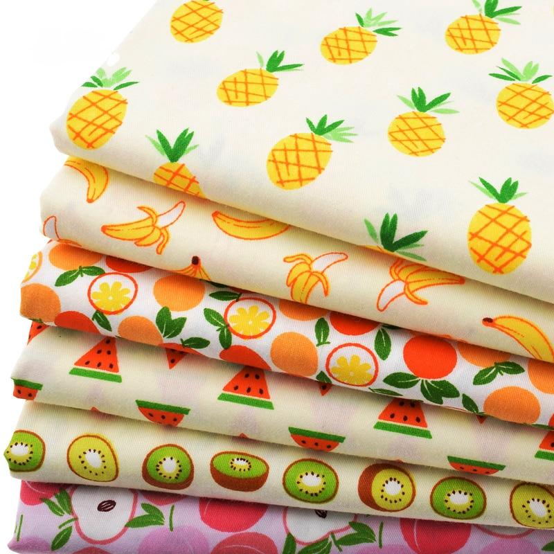 Tela de algodón de sarga impresa para coser acolchado de patchwork de bricolaje / tejido de bebé y niños / sábana, almohada, cojín, material de cortina