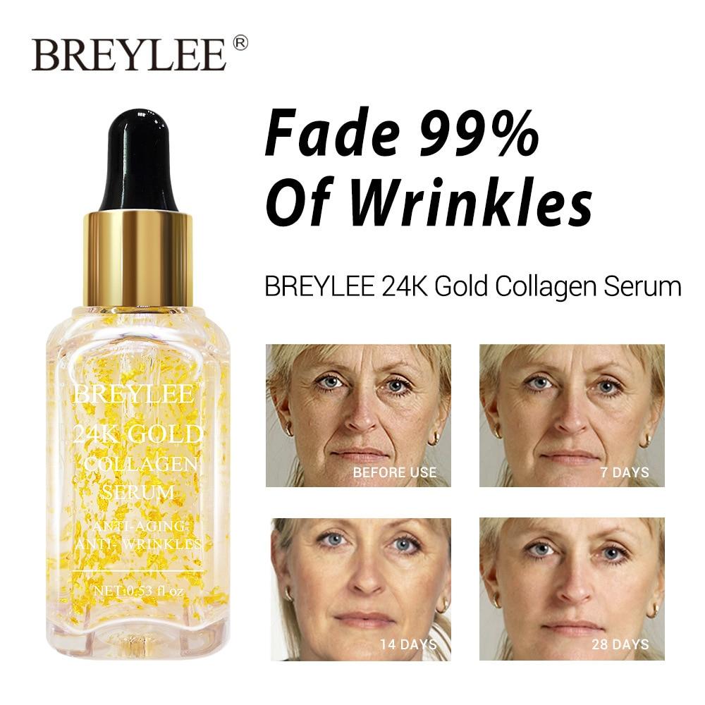BREYLEE Serum Series Hyaluronic Acid Rose Nourishing Vitamin C Whitening 24k Gold Firming Soothing Repair Face Care Essence 65