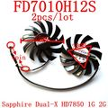 Free Shipping   2pcs/lot  Firstd  FD7010H12S 4PIN DC12V 0.35A 75mm 39X39X39mm For Sapphire Dual-X HD7850 1G 2G graphics card fan