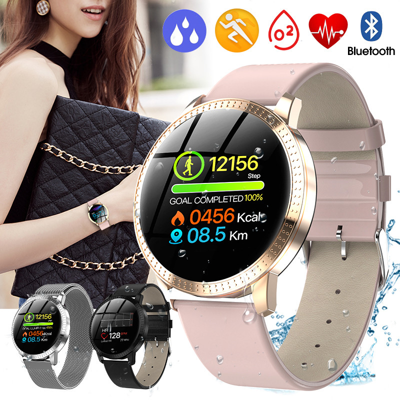 CF18 Smart Watch IP67 Waterproof Color Screen Blood Pressure Heart Rate Monitor Men Women Smartwatch For Samsung Huawei